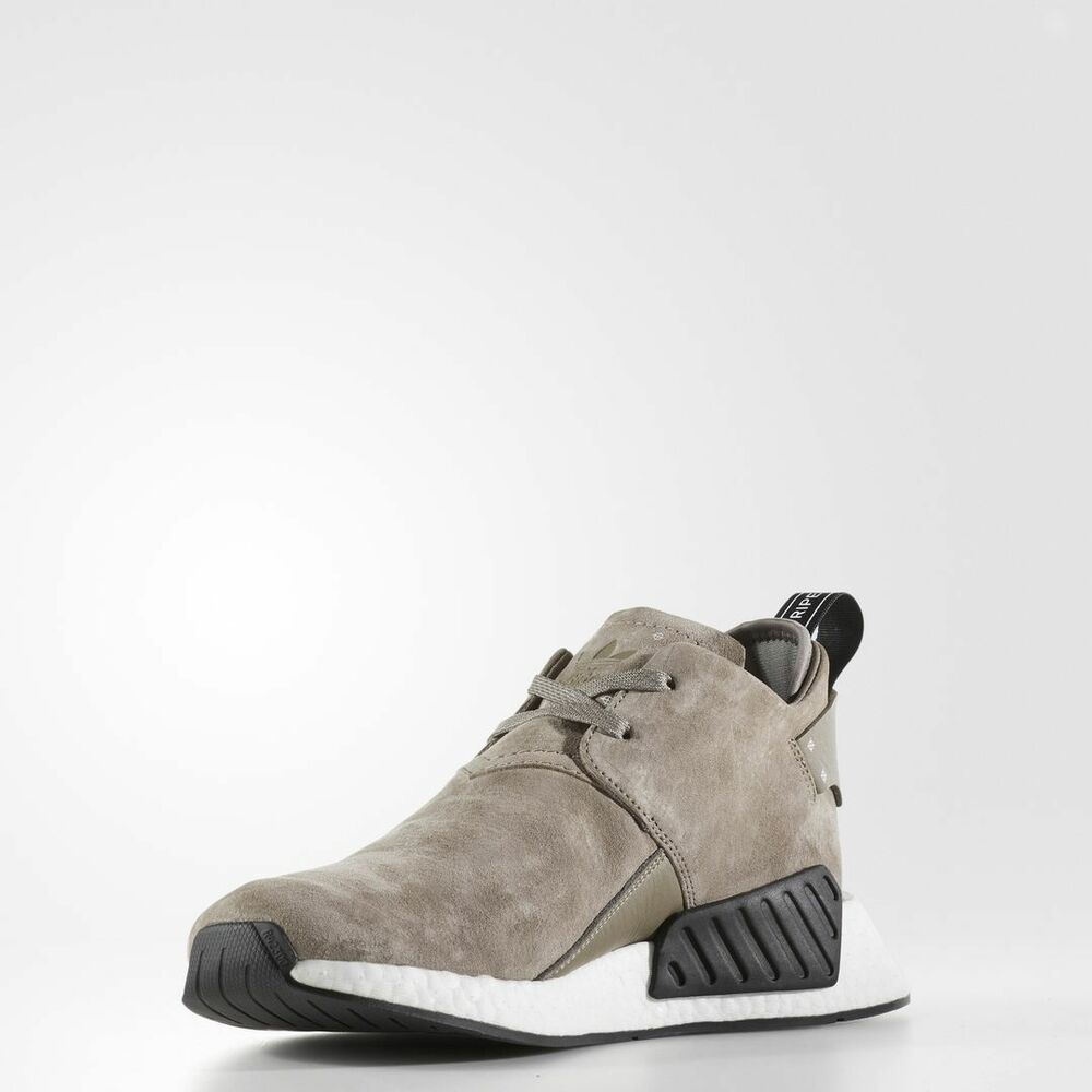 5798340063fd3 Details about Adidas NMD C2 Suede Simple Brown   BY9913   Men Chukka Nubuck  Boost White Black