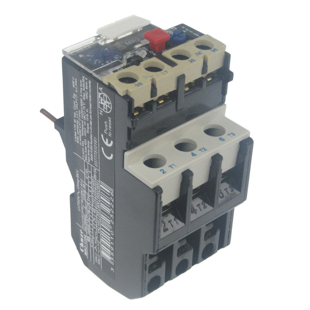 Mr2 1306 1 To 16 Amp Thermal Contactor Overload Circuit Breaker Electric Motor Breakermotor Product On Cut Off Ebay