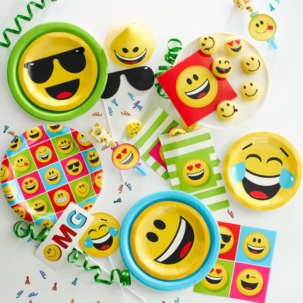 Details About Bulk Emoji Birthday Party Supplies And Decorations