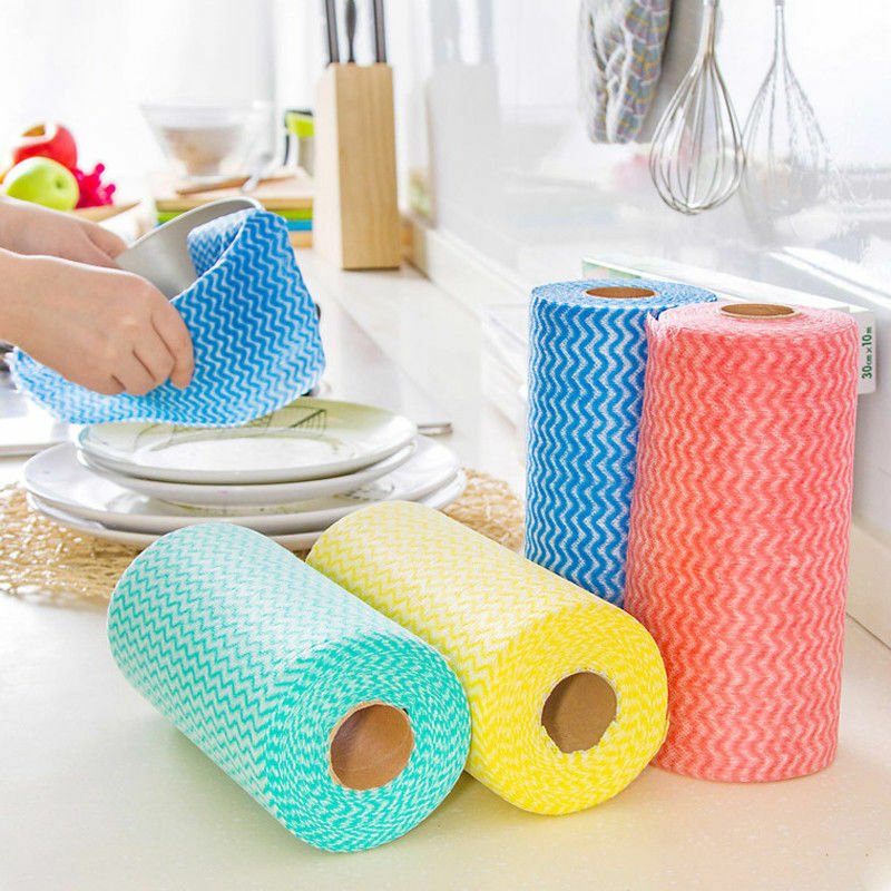 Details About Easy Kitchen Disposable Non Woven Fabrics Washing Cleaning Cloth Dish Towels