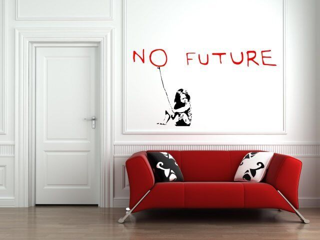 banksy 2016 no future wall sticker decal removable wall art decor