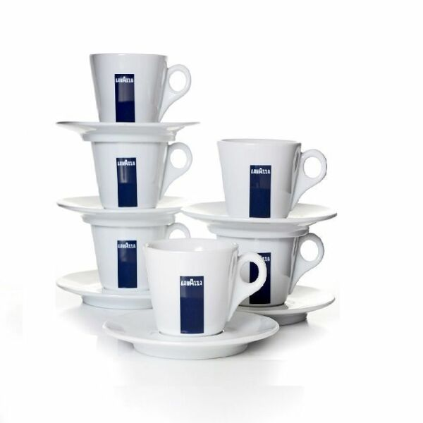 Lavazza Espressotassen mit Untertasse Blu Collection 6er Set