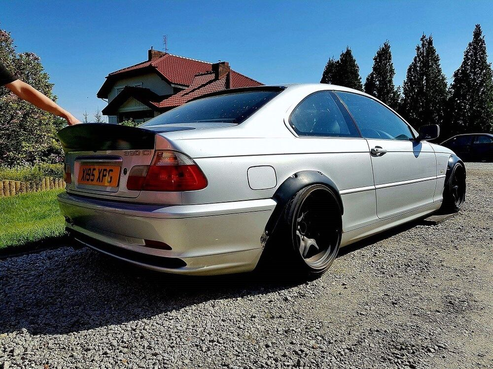 bmw e46 spoiler wing csl style not ducktail drift by. Black Bedroom Furniture Sets. Home Design Ideas