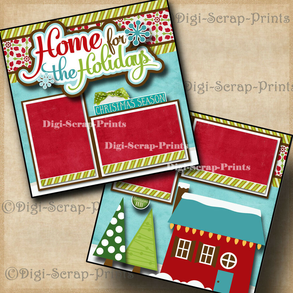 HOW THE GRINCH STOLE CHRISTMAS 2 premade scrapbook pages layout ...