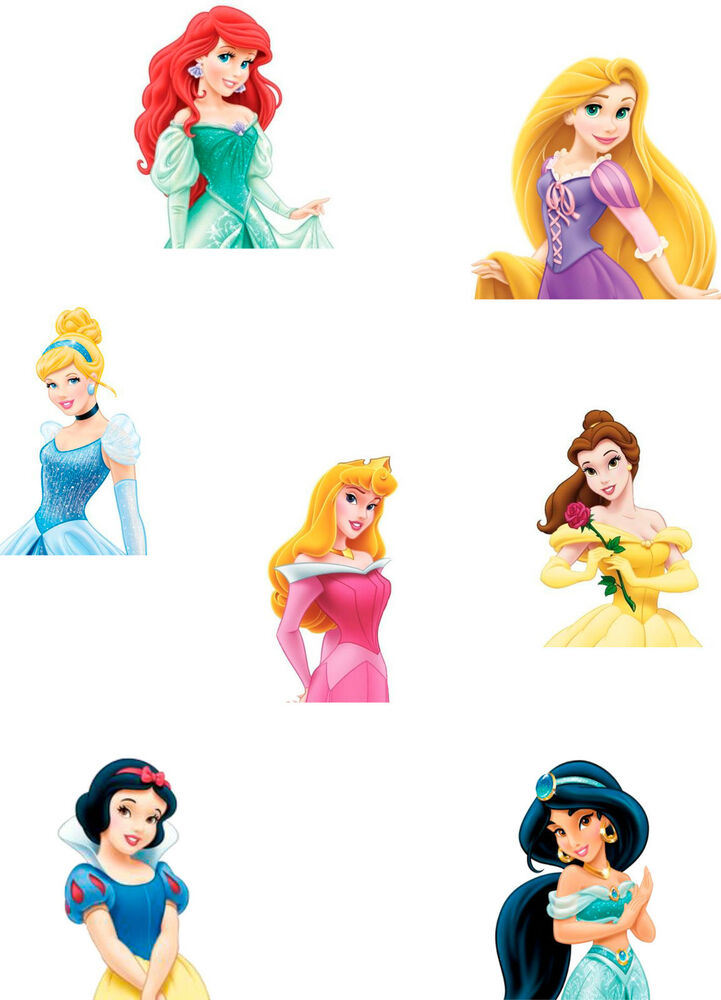 Disney Princess Cake Topper Sheet A4 Edible Printed Iced ...