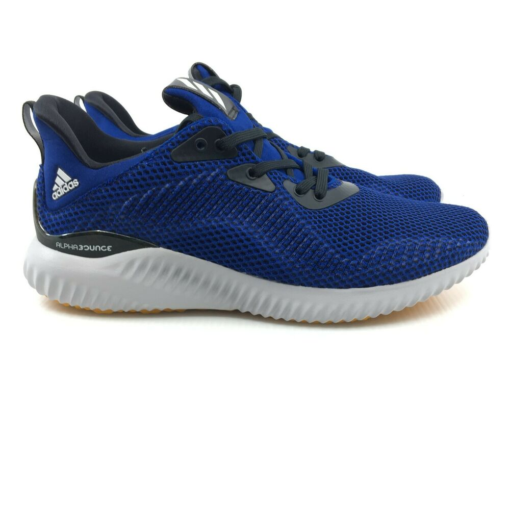 4f33d891c Adidas Alphabounce Bounce 1 Mystery Ink Core black Blue Orange Grey BW1219  Mesh
