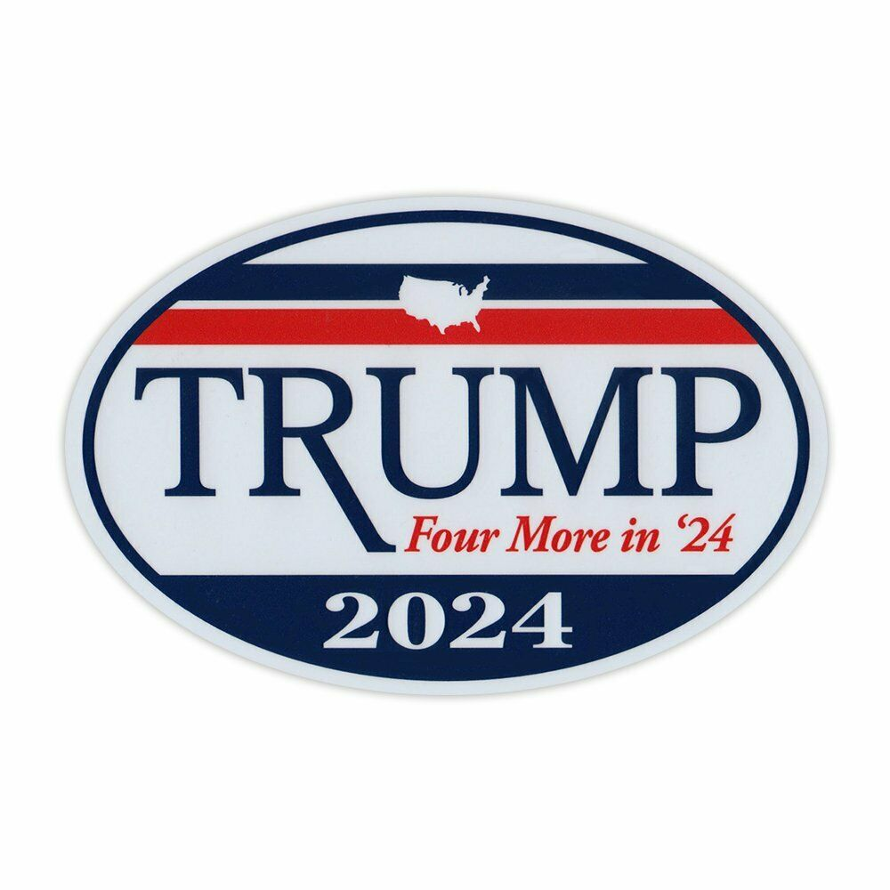 Details about oval shaped magnet donald trump president 2020 magnetic bumper sticker