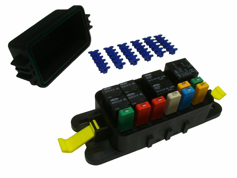 fuse box module fuse box or breaker box hwb60-al waterproof fuse relay panel module atv utv car ...