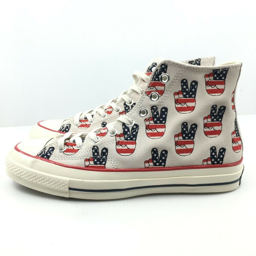 7f707bc8 Herrenschuhe Converse Chuck Taylor 70 Hi Egret Varsity Red Blue Election  Vote 155450C Peace