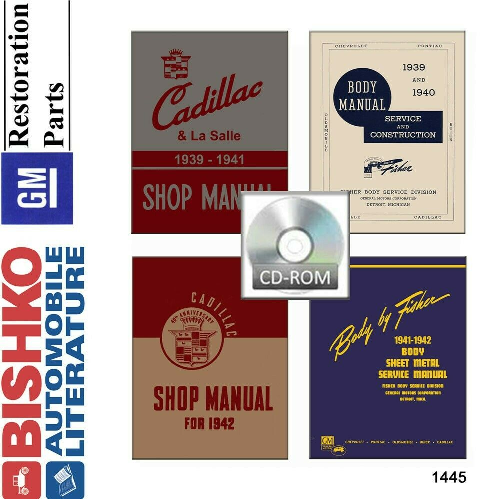 1939 1940 1941 1942 Cadillac Shop Service Repair Manual CD Engine  Drivetrain OEM | eBay