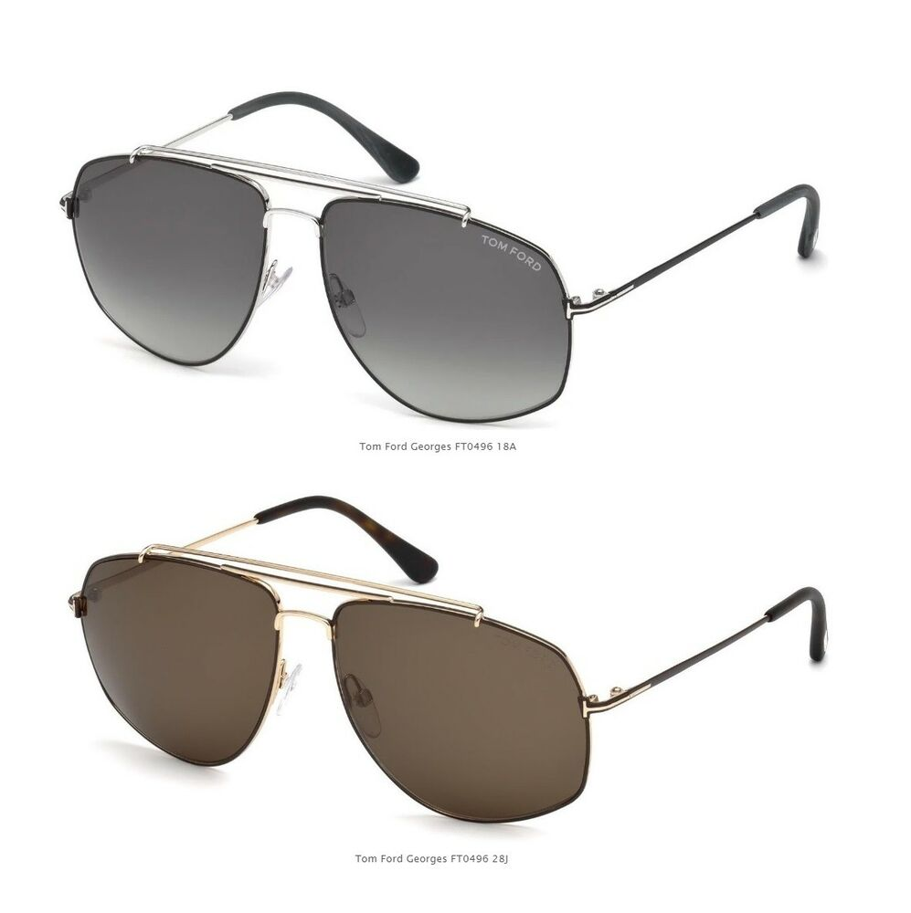 c62fc35cf6ff Details about Authentic New TOM FORD Men s Georges FT0496 18A Black 28J Rose  Gold Sunglasses