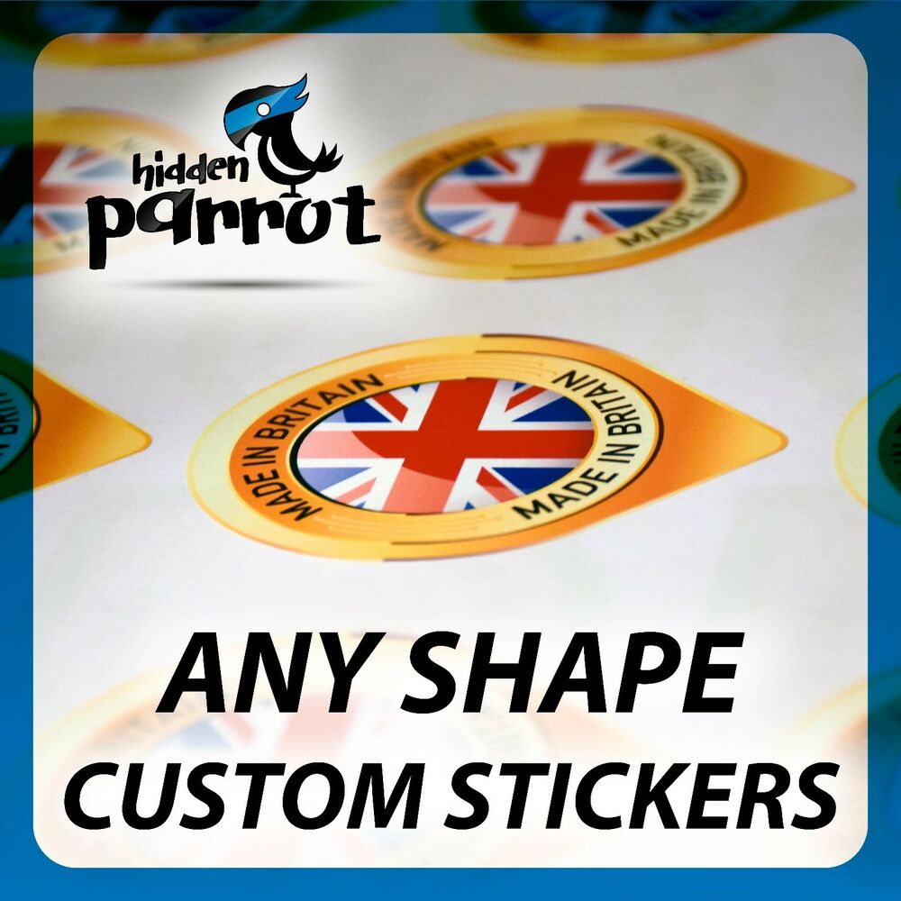 Details about personalized cut to any shape custom printed vinyl stickers decal label car bike