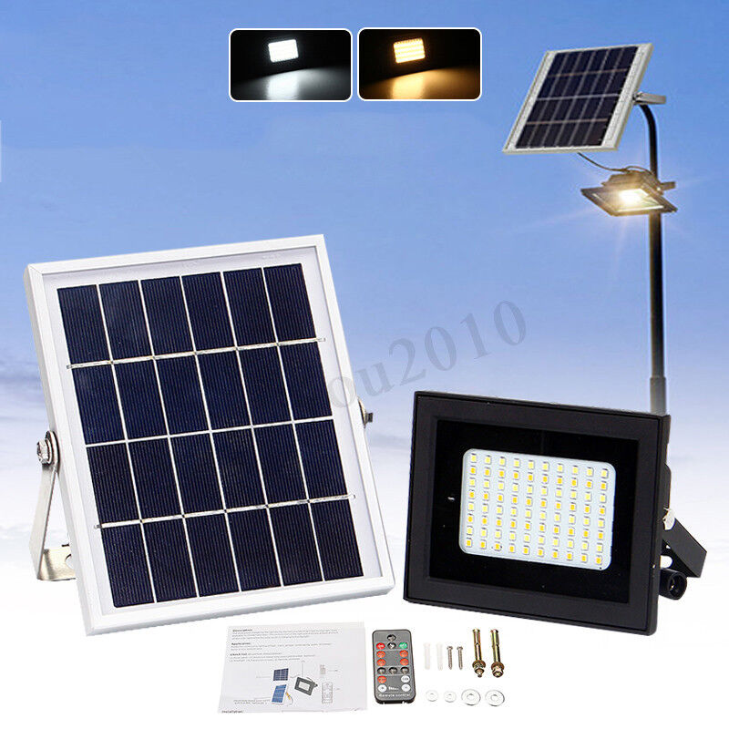 54led Solar Light Sensor Flood Spot Light Outdoor Garden