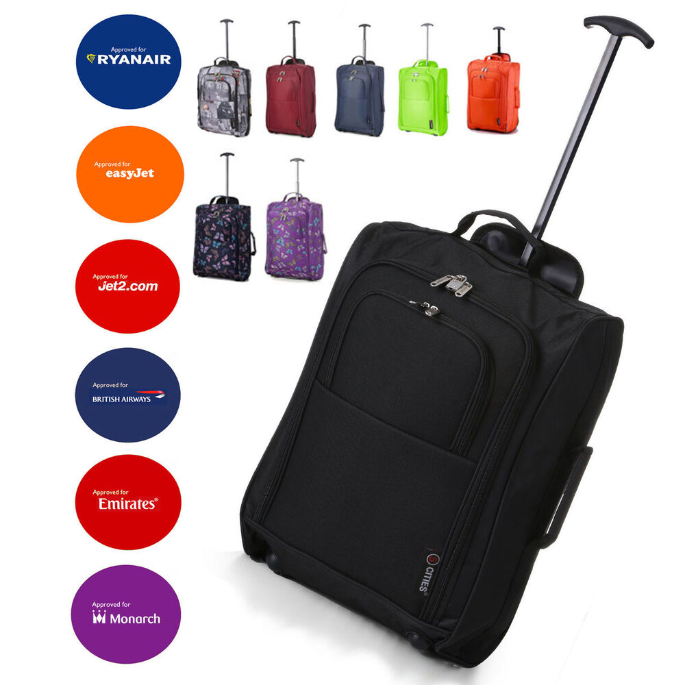Easyjet Ryanair Carry On Trolley Cabin Bag Hand Luggage Suitcases Light Weight Ebay
