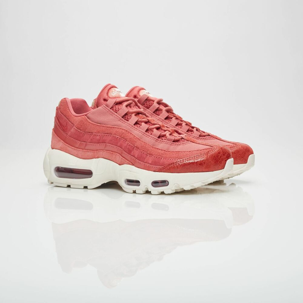 b6742afa28f Details about Nike Womens Air Max 95 Premium Light Redwood Trainers 807443  801