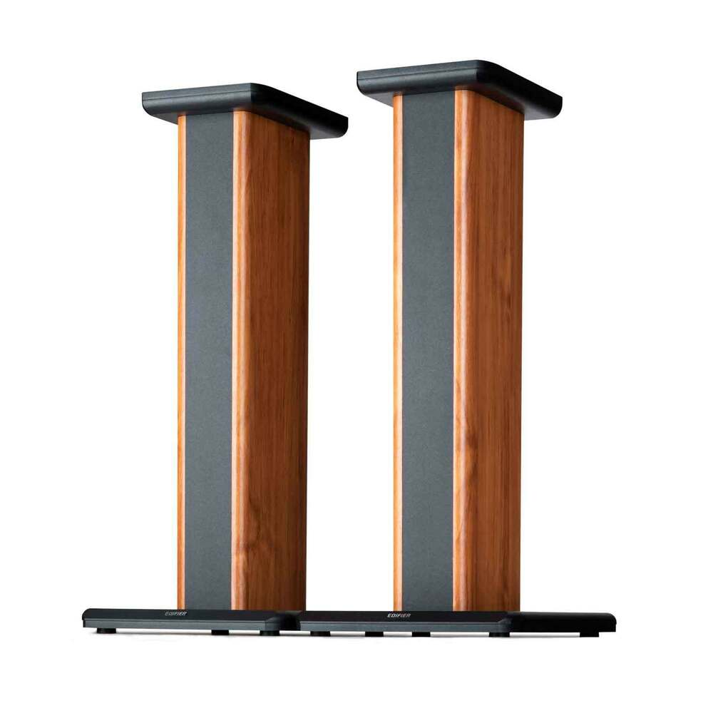 edifier ss02 s1000db s2000pro wood grain speaker stands for home theater 875674003653 ebay. Black Bedroom Furniture Sets. Home Design Ideas