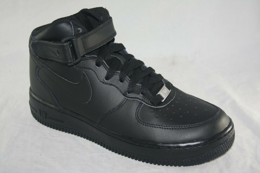 online store 348fb aed81 Details about YOUTH SIZE NIKE AIR FORCE 1 MID (GS) 314195-004 BLACK BLACK  MSRP  85.00
