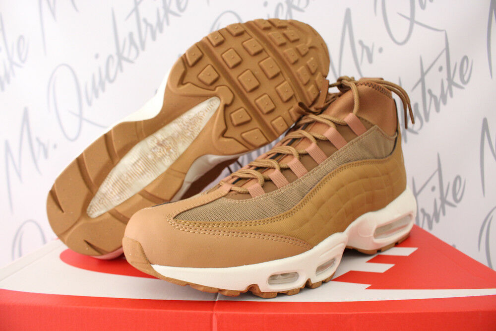 new style 3f1cd 226a1 Details about NIKE AIR MAX 95 SNEAKERBOOT SZ 8-13 FLAX ALE BROWN SAIL 2017  BOOT 806809 201