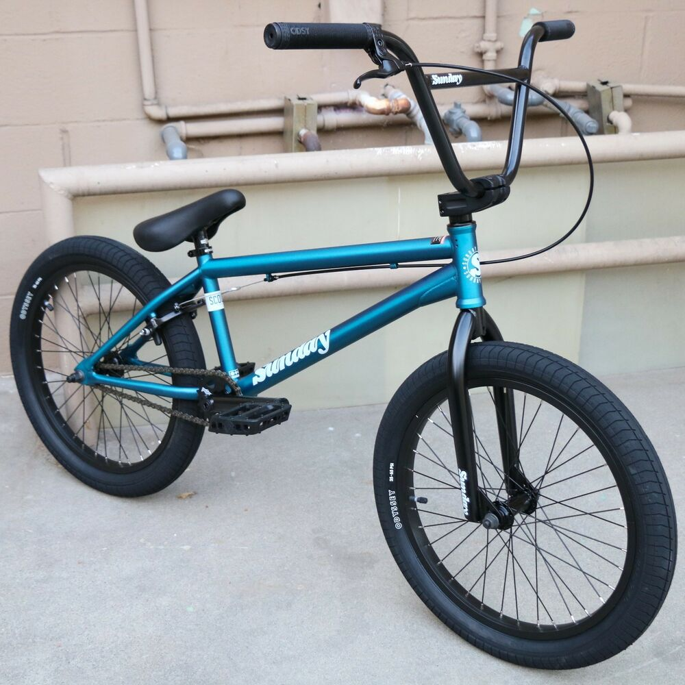 """2018 SUNDAY BIKE BMX SCOUT 20"""" TRANS TEAL BICYCLE FIT CULT ..."""
