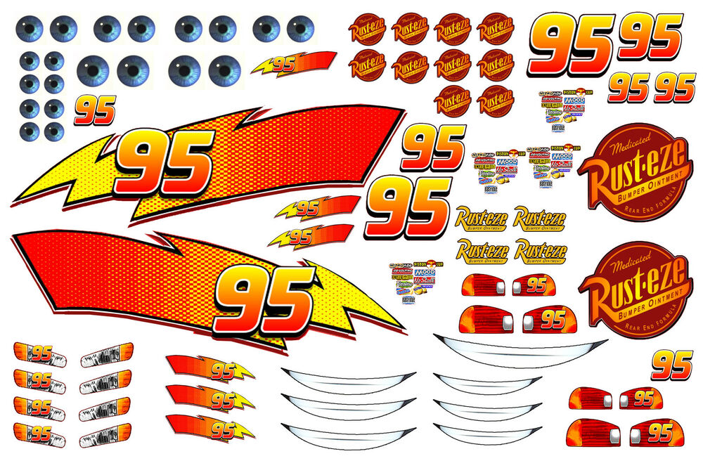 Details About Lightning Mcqueen Edible Icing Sheet Cake Stickers