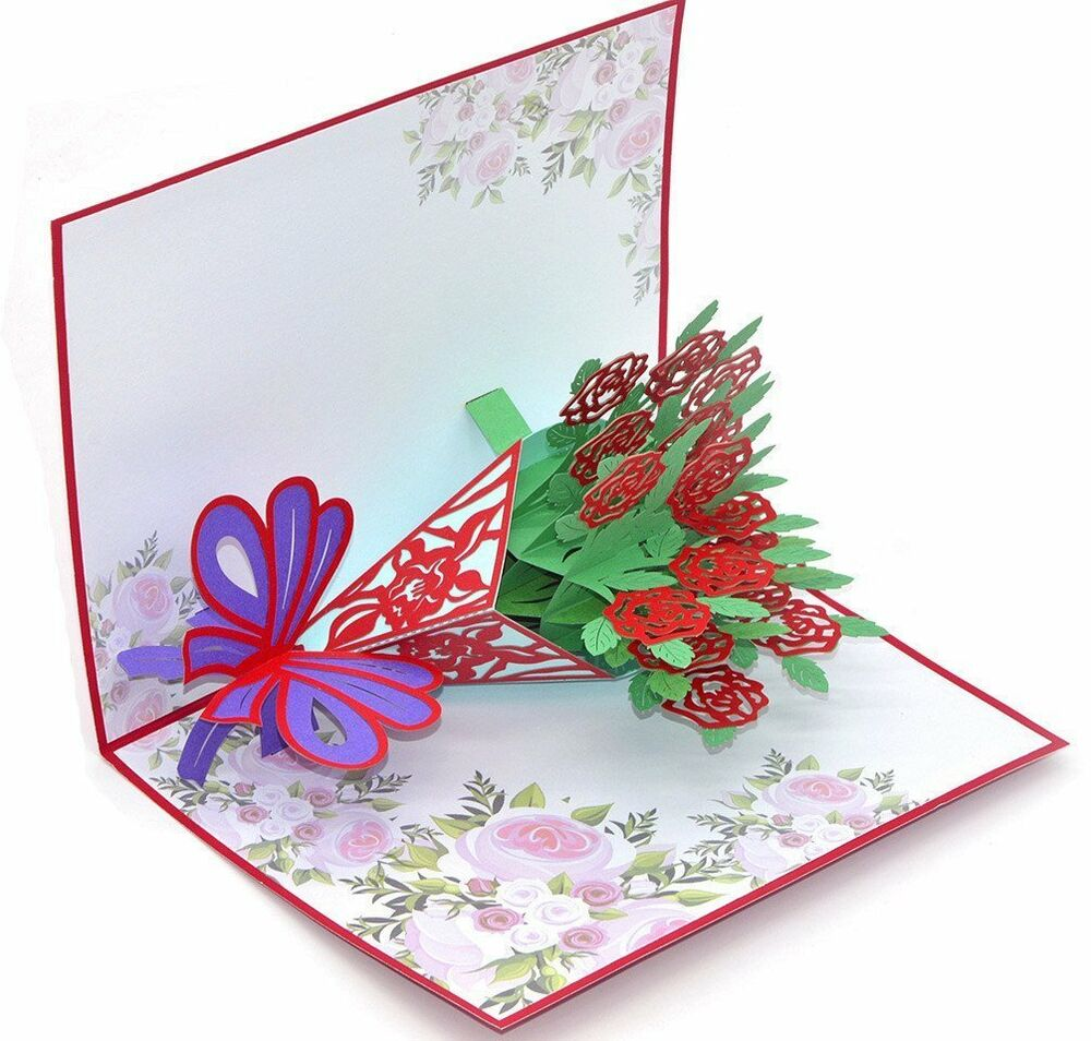 Medigy 3d pop up congratulations greeting card a bouquet of red medigy 3d pop up congratulations greeting card a bouquet of red roses for 606089960619 ebay kristyandbryce Gallery