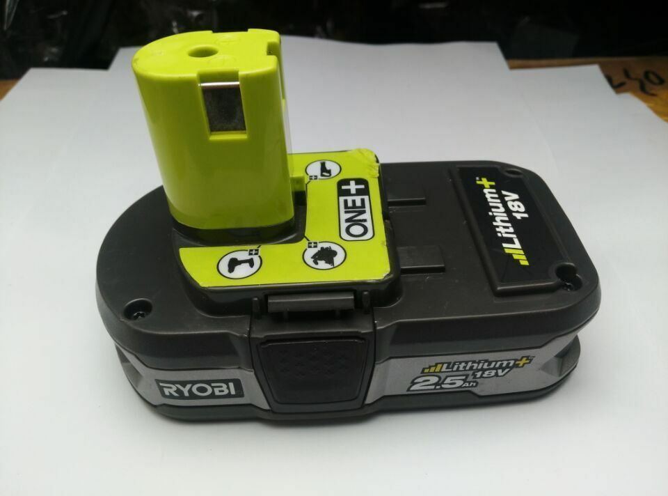 used ryobi 18v rb18l25 2 5ah one li ion cordless tool. Black Bedroom Furniture Sets. Home Design Ideas
