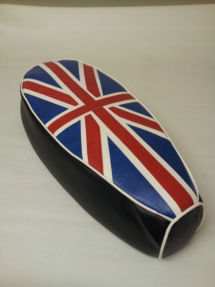 Scooter With Seat >> AJS Modena \ Lexmoto milano Seat Cover Union Jack Red ...