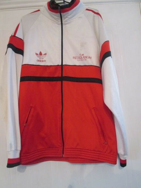 1988 AC Milan Training Football Track Suit Jacket XL Adult (11447)