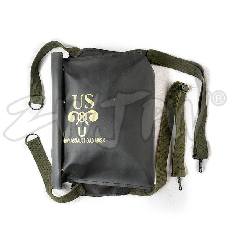 Ww2 Wwii Us Army Normandy D-day M5 M7 Gas Mask Bag Pack Carrier Repro Black Camping & Hiking