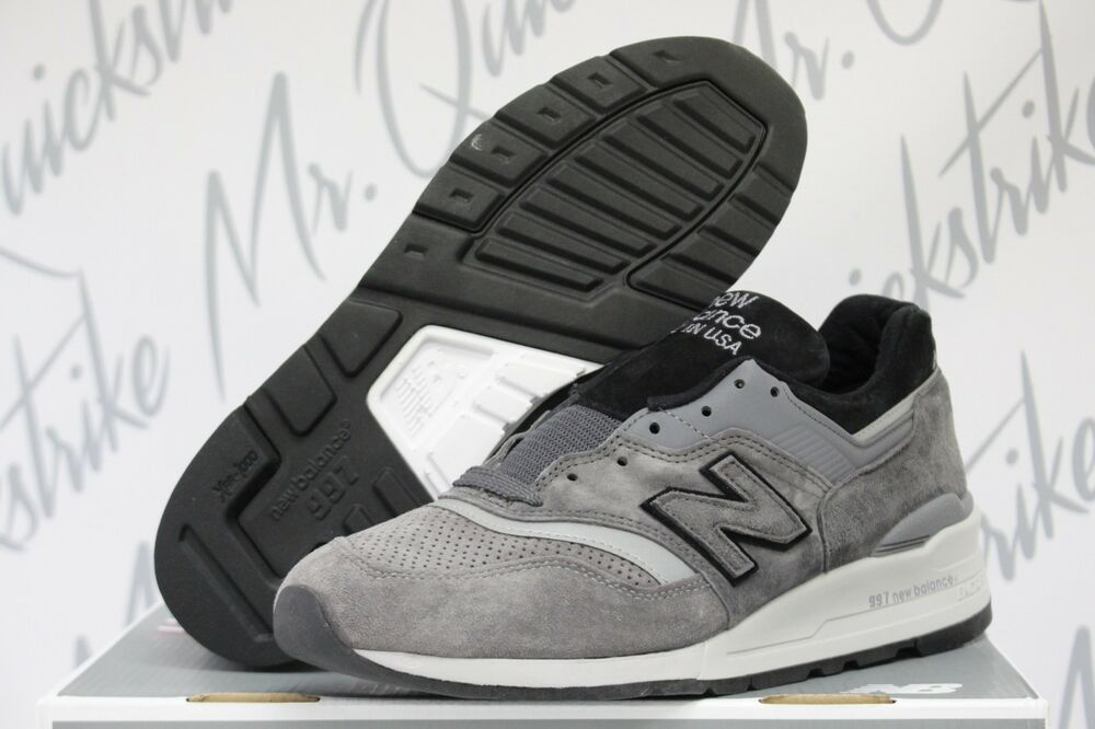Details about NEW BALANCE 997 SZ 8-13 MADE IN THE USA GREY BLACK M997BRK e5e6a3aace