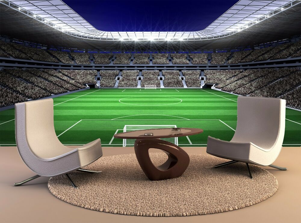 Football Stadium 2 Wallpaper Mural: Large Football Stadium Soccer Giant Photo WallPaper Mural