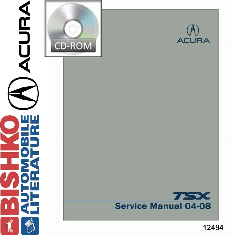 Details about 2004 2005 2006 2007 2008 Acura TSX Shop Service Repair Manual  CD Engine OEM