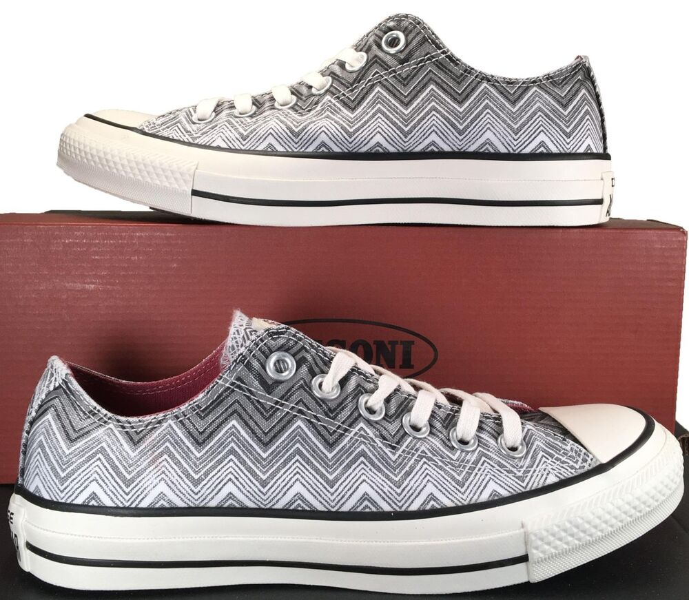 660545a1807fd9 Details about Converse by Missoni Chuck Taylor All Star Ox Low Top Sneaker  Black White 147272C