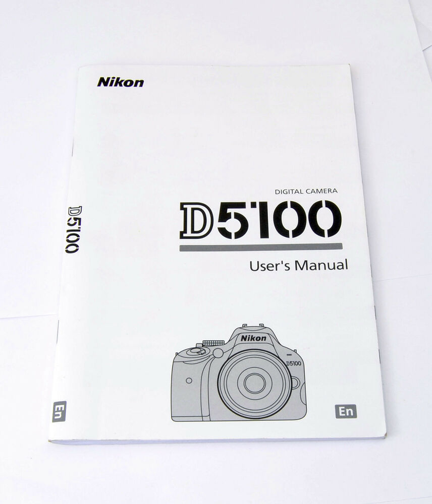 Nikon D5100 Digital Camera English User's Instruction Manual Booklet | eBay