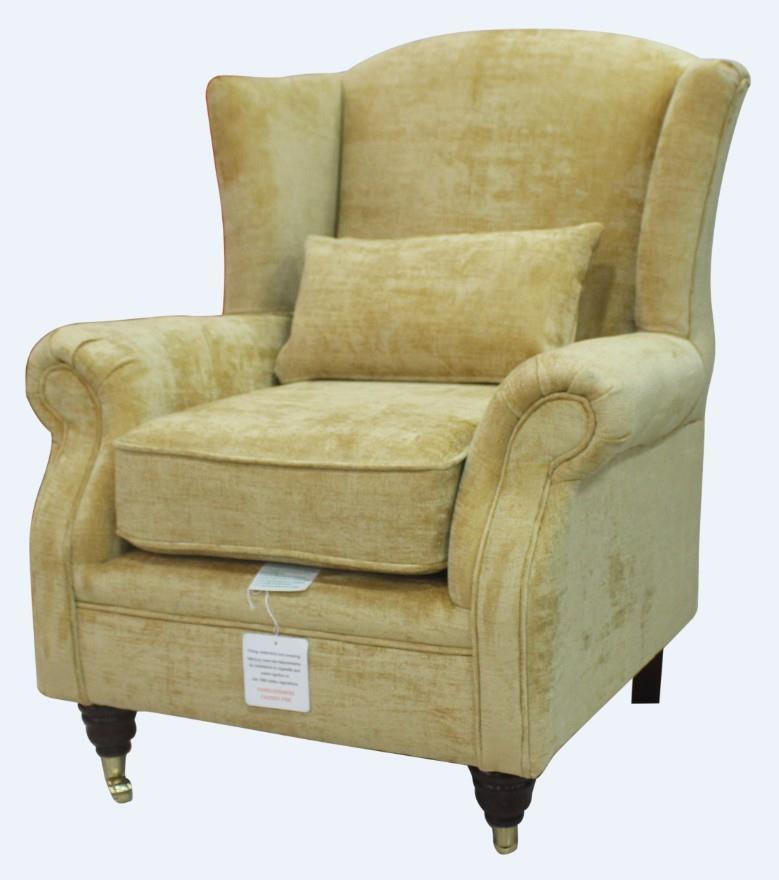 Ashley Wing Chair Fireside High Back Armchair Velluto Gold ...