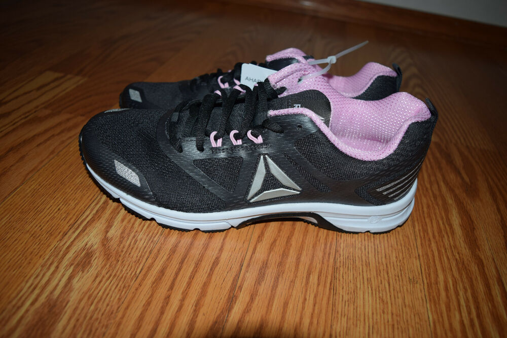 869509962e Details about NEW Womens REEBOK AHARY RUNNER Coal Gray Pink Athletic  Running Tennis Shoes 10