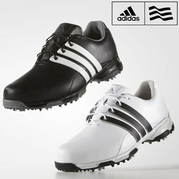 newest 7da0b e385b Adidas Mens Pure Traxion 360 Golf Shoes Waterproof Leather Golf Shoes