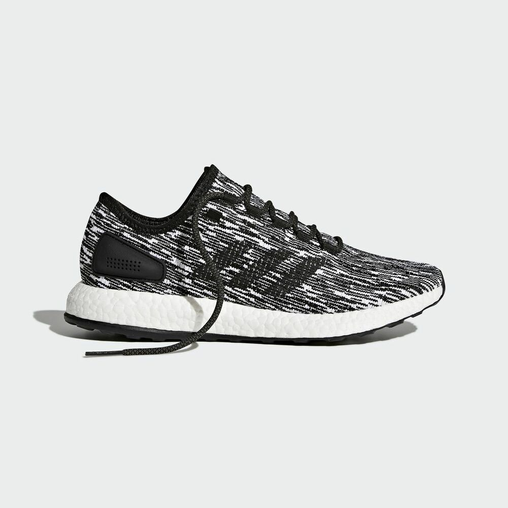 b190f9990dd8d Details about Adidas PureBOOST Core Black   BB6280   Men Pure Boost Knit  Textile Running White