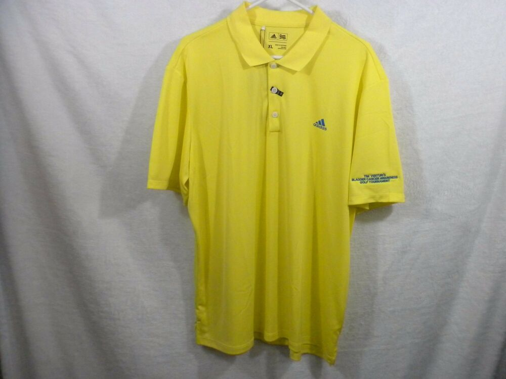 adidas yellow golf shirt