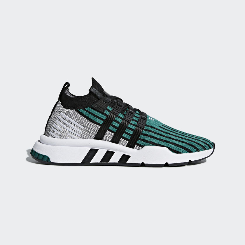 pretty nice 69c7f c9694 Details about Adidas Originals EQT Support Mid ADV PK Primeknit Black Green  White New CQ2998