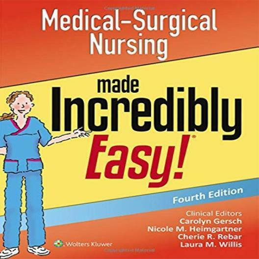 ❤ Book Medical-Surgical Nursing Made Incredibly Easy Lippincott ...