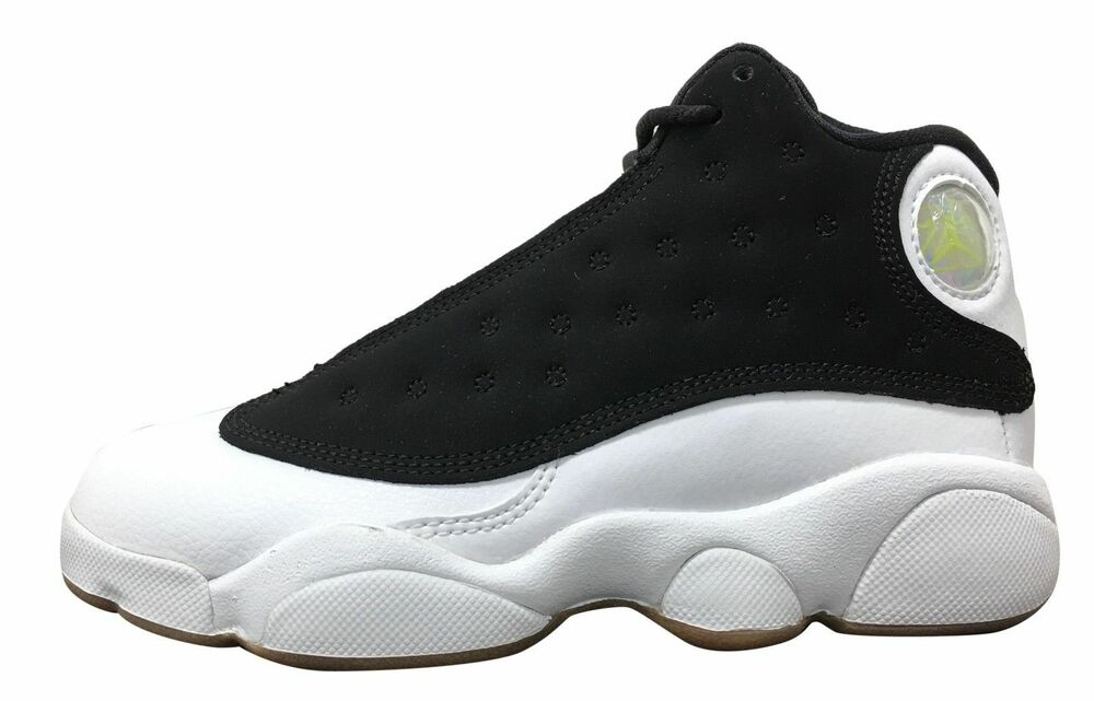 f64c1e652fa7 Details about New Air Jordan Kid s Retro 13 (PS) Shoes (439669-021)  Black  Metallic Gold-White