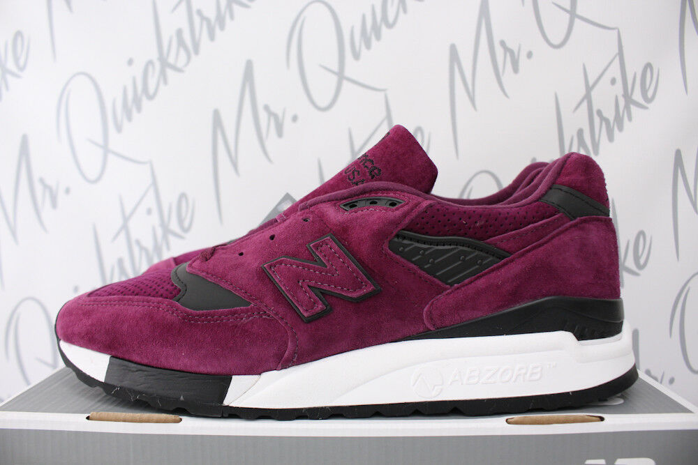 Details about NEW BALANCE 998 MADE IN USA SZ 9.5 COLOR SPECTRUM PURPLE BLACK  WHITE M998CM 223f88b95