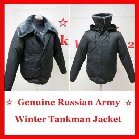 img-☆ GENUINE RUSSIAN ARMY TANKMAN WINTER UNIFORM BLACK JACKET, VERY WARM! ☆