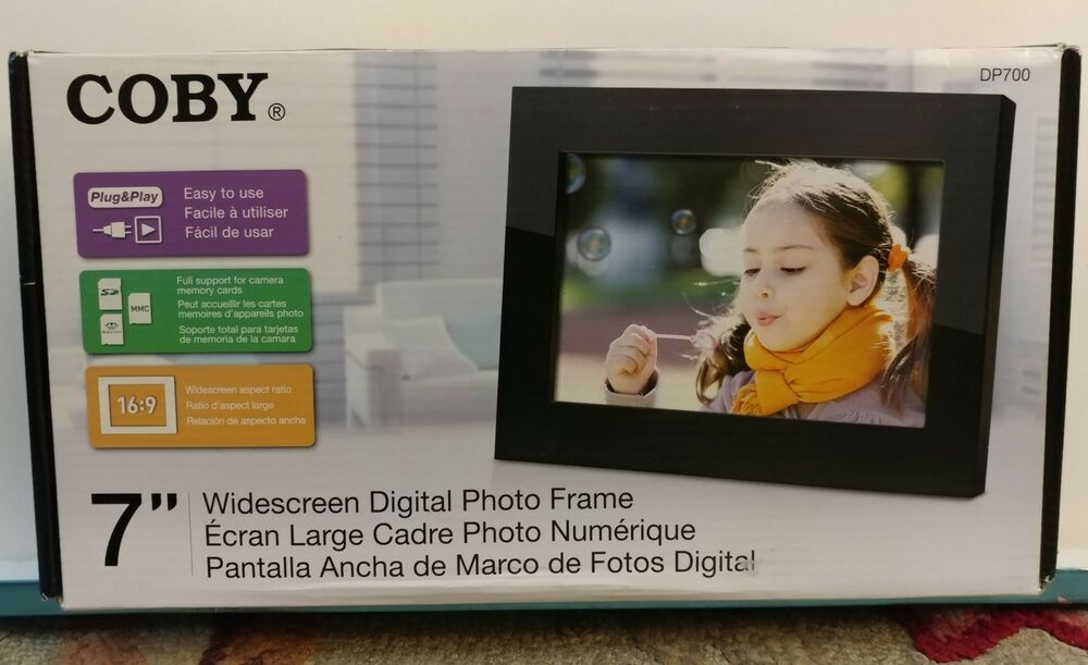 Coby DP700BLK 7-Inch Digital Picture Frame NIB | eBay