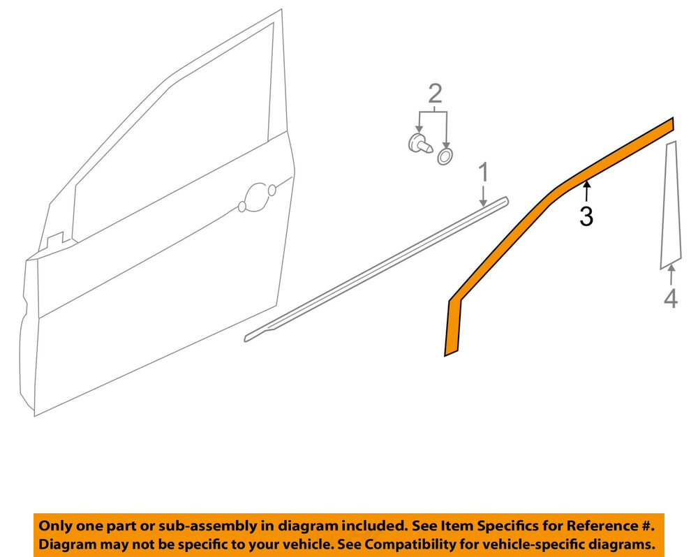 Details about KIA OEM 14-18 Forte5 Front Door-Black Out Tape Left 86362A7000
