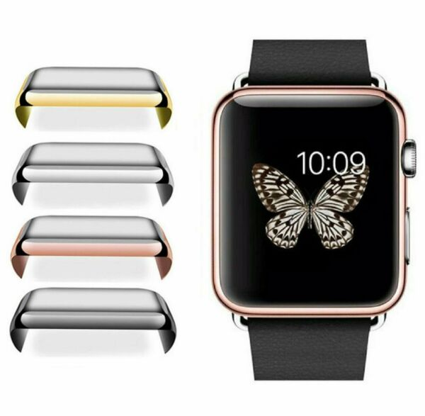 Apple Watch 1/2/3 38/42mm 40/44mm Slim Full Cover Snap On Screen Protector Case