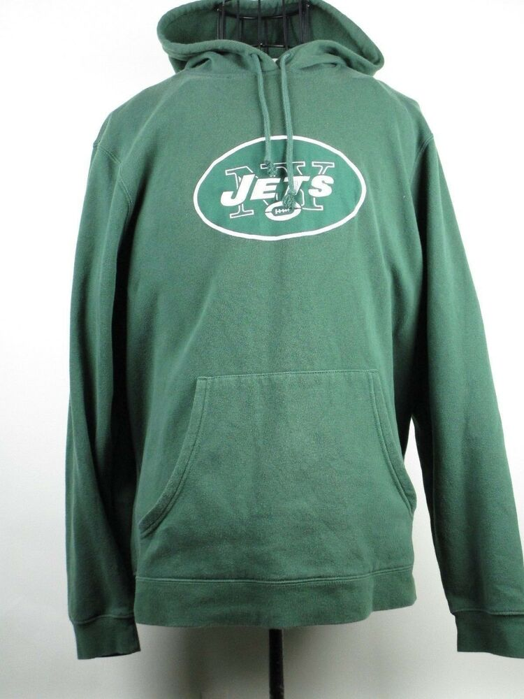 Cheap Mens NFL Team Apparel Large Green New York Jets Pullover Sweatshirt  supplier