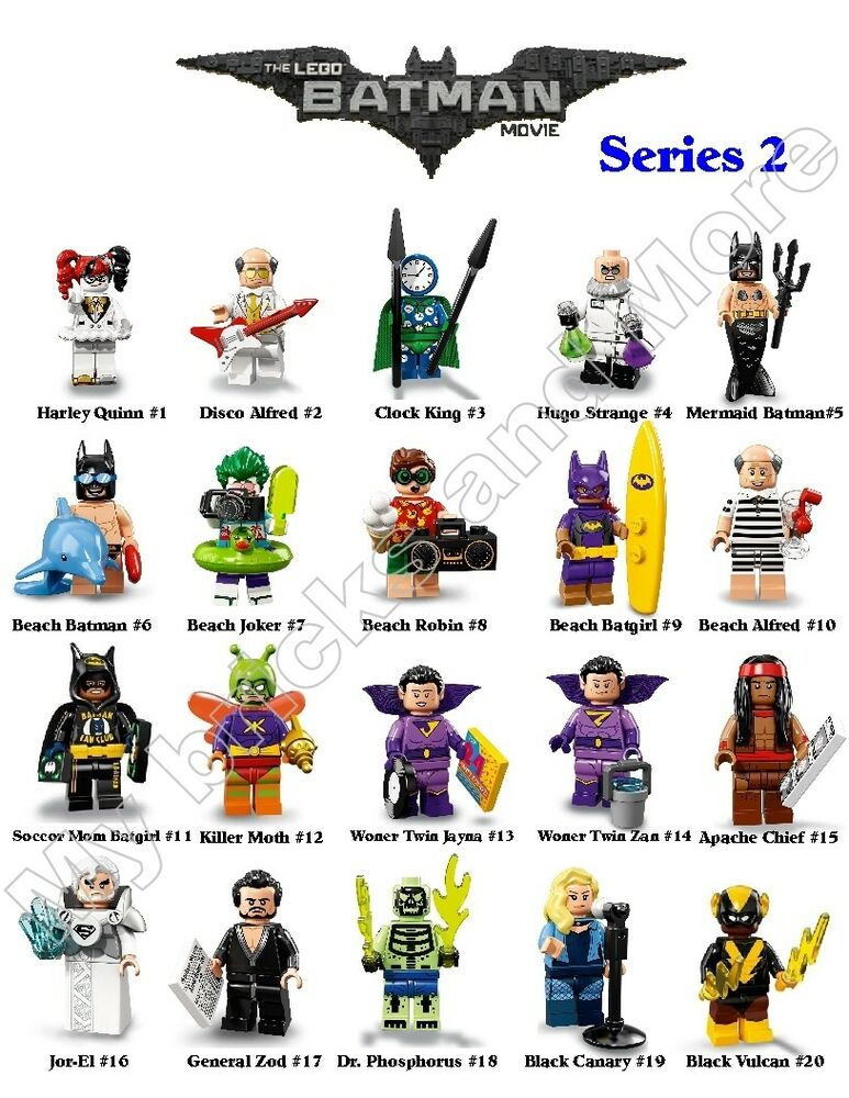lego series 2 batman minifigures 1 20 you pick 100 real ebay. Black Bedroom Furniture Sets. Home Design Ideas