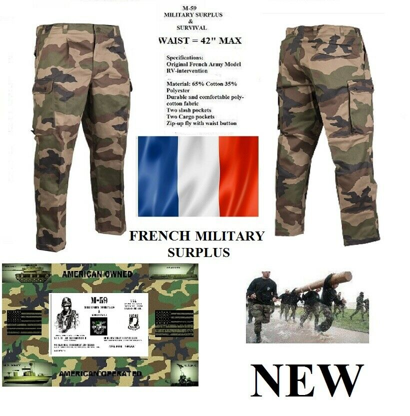 Details about Authentic Original French Military CEC Camo F2 Combat Pants -  2XL 42